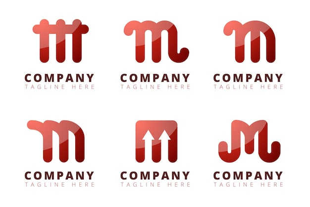 Collection de logo dégradé m