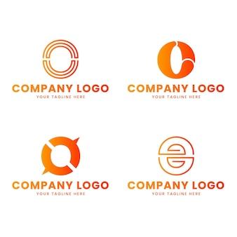 Collection de logo dégradé o
