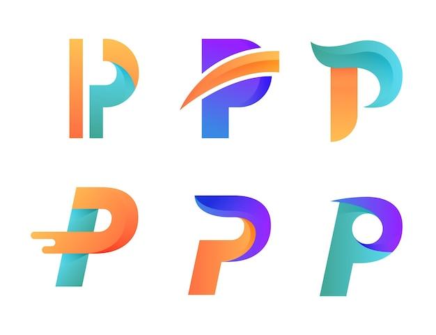 Collection de logo dégradé p