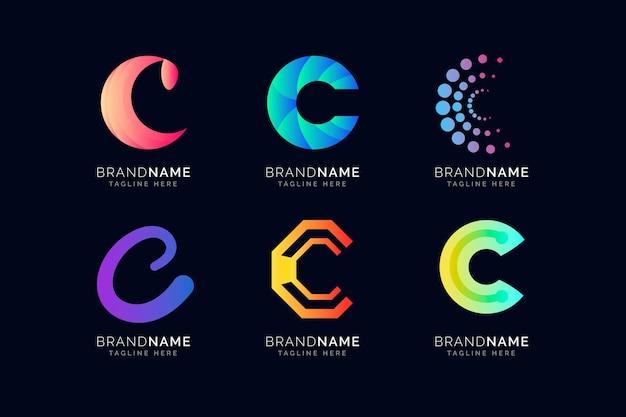 Collection de logo dégradé c