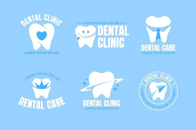 Collection de logo dentaire design plat