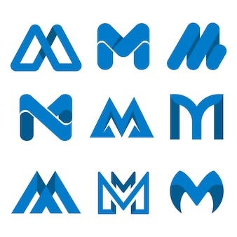 Collection de logo design plat m