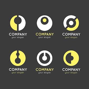 Collection de logo design plat o