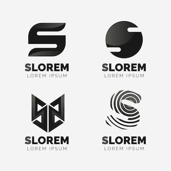Collection de logo design plat