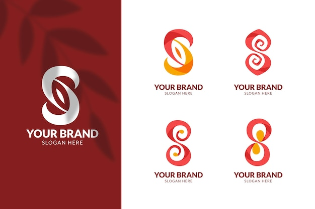 Collection de logo design plat