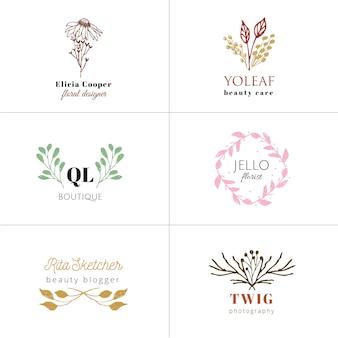 Collection de logo dessinés à la main