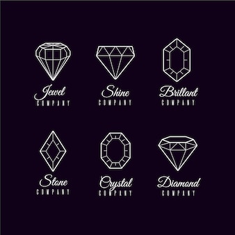 Collection de logo diamant minimal