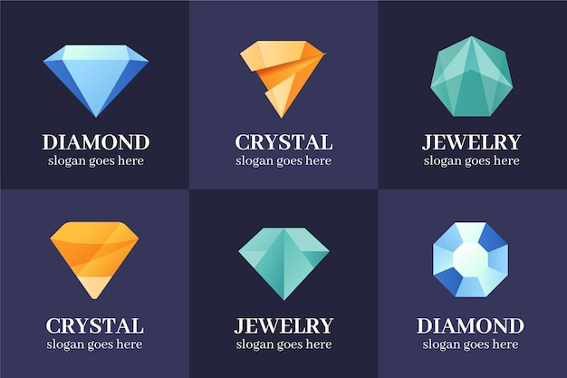 Collection de logo de diamant