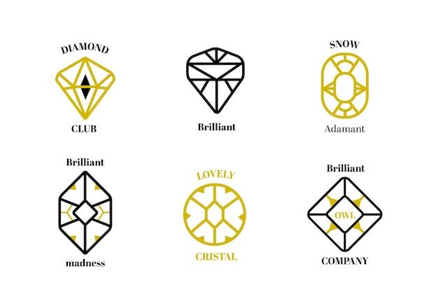 Collection de logo de diamant