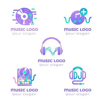 Collection de logo dj dégradé