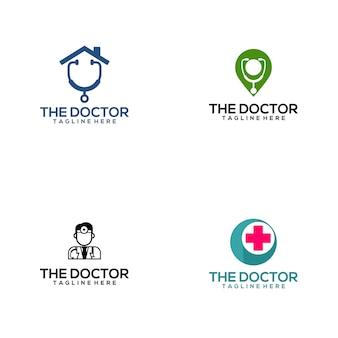 Collection de logo de docteur médical