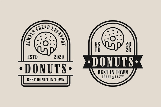Collection de logo donuts