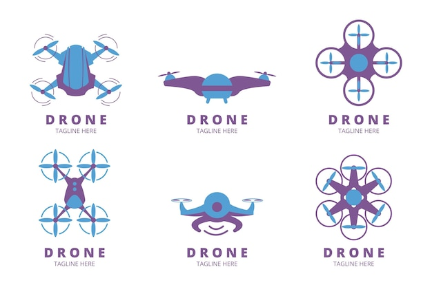 Collection de logo de drone moderne