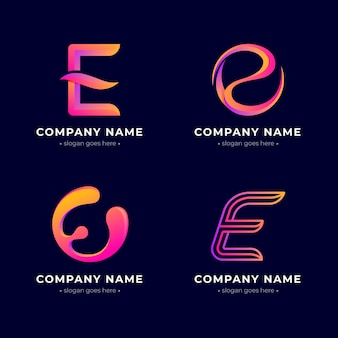 Collection de logo e dégradé créatif