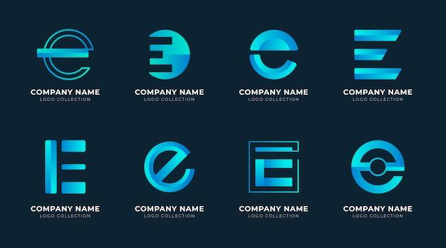 Collection de logo e design plat