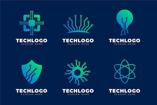 Collection de logo électronique dégradé