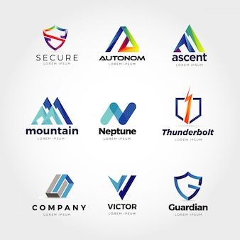 Collection de logo d'entreprise abstraite