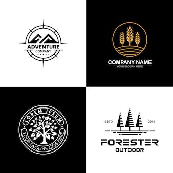 Collection de logo environnement et plein air