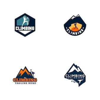 Collection de logo d'escalade