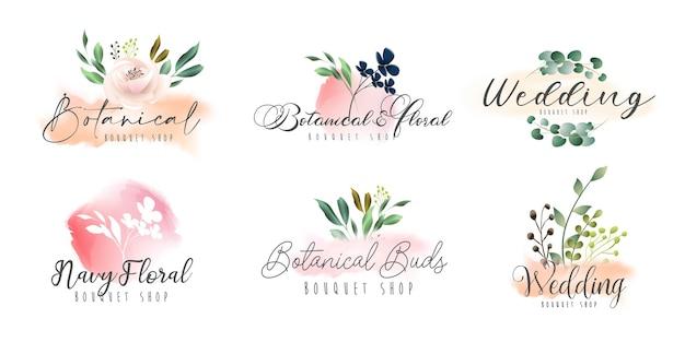 Collection de logo féminin botanique floral