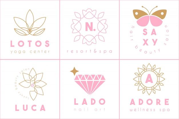 Collection de logo féminin