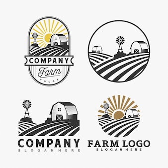 Collection de logo de ferme