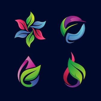 Collection de logo de feuilles