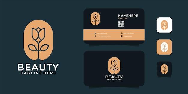 Collection de logo de fleur de beauté spa