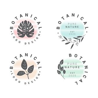 Collection de logo floral botanique