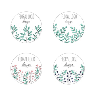 Collection de logo floral
