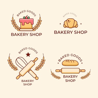 Collection de logo de gâteau de boulangerie