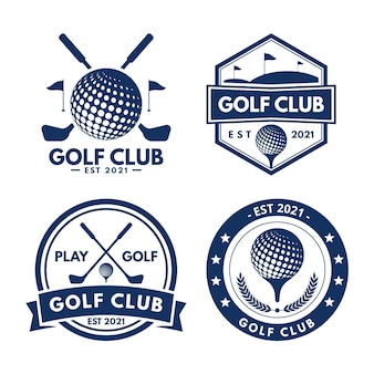 Collection de logo de golf design plat