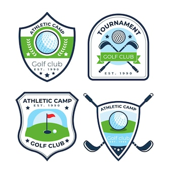 Collection de logo de golf plat