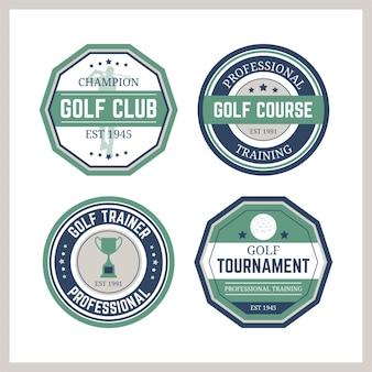Collection de logo de golf vintage
