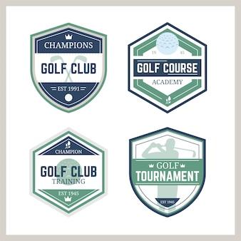 Collection De Logo De Golf Vintage Vecteur gratuit