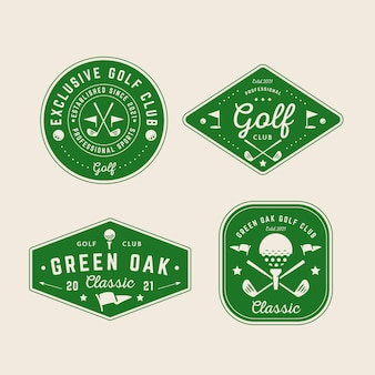 Collection de logo de golf vintage