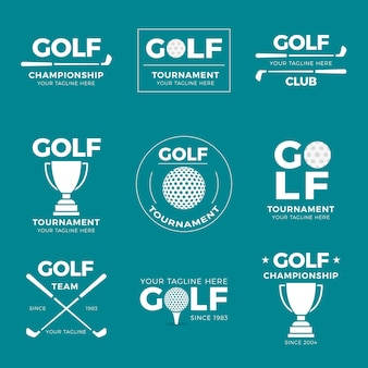 Collection De Logo De Golf Vecteur gratuit