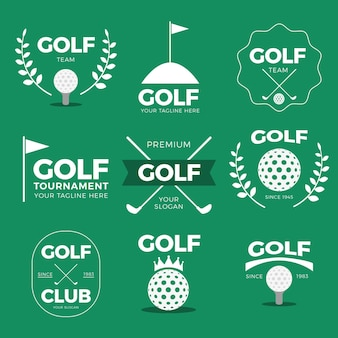 Collection de logo de golf