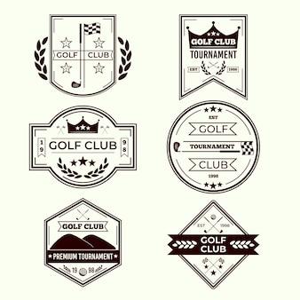 Collection De Logo De Golf Vecteur gratuit