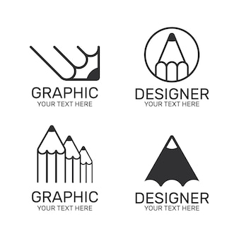 Collection De Logo De Graphiste Plat Vecteur gratuit