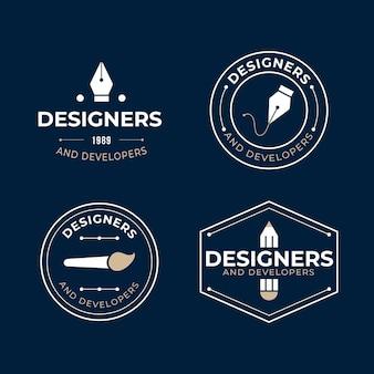 Collection de logo de graphiste plat