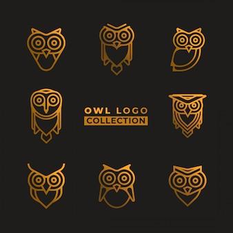 Collection de logo de hibou