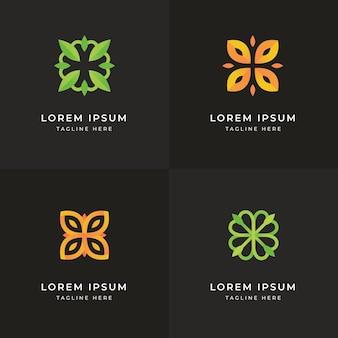 Collection de logo holistique dégradé