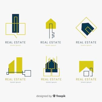 Collection de logo immobilier élégant