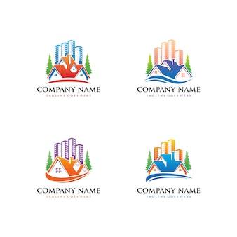 Collection de logo de l'immobilier et de la maison créative