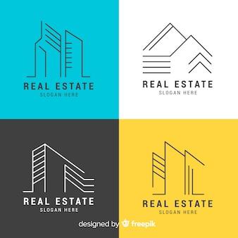 Collection de logo immobilier moderne