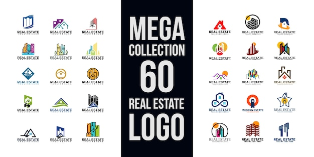 Collection de logo immobilier