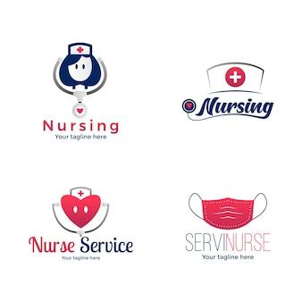 Collection de logo d'infirmière dégradé