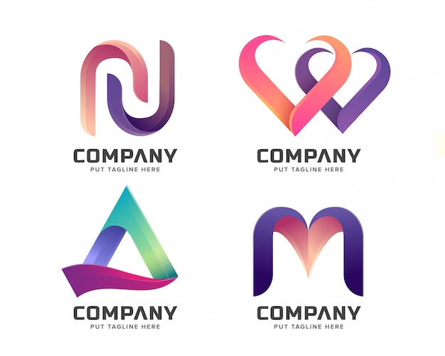 Collection de logo initiale lettre créative