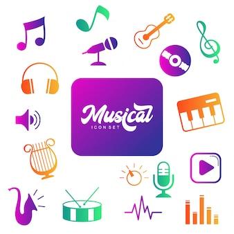 Collection de logo d'instrument de musique